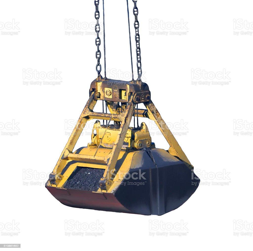 ladle crane with coal stock photo