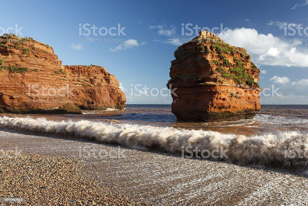 Ladram Bay Devon England UK stock photo