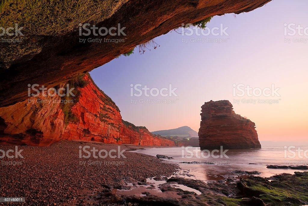 Ladram Bay in Devon, UK. stock photo