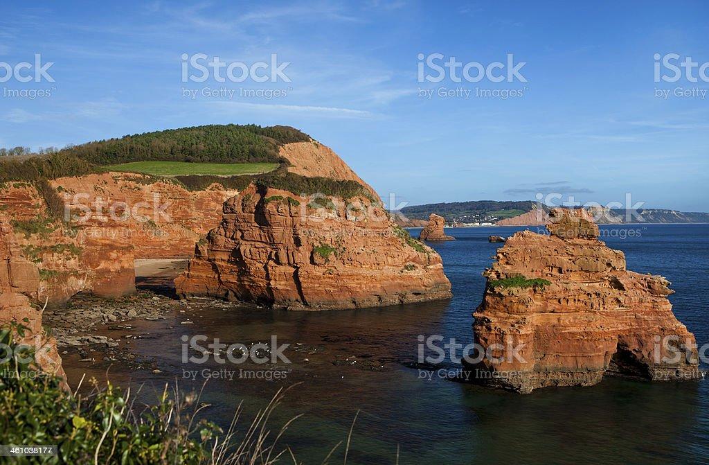 Ladram Bay stock photo