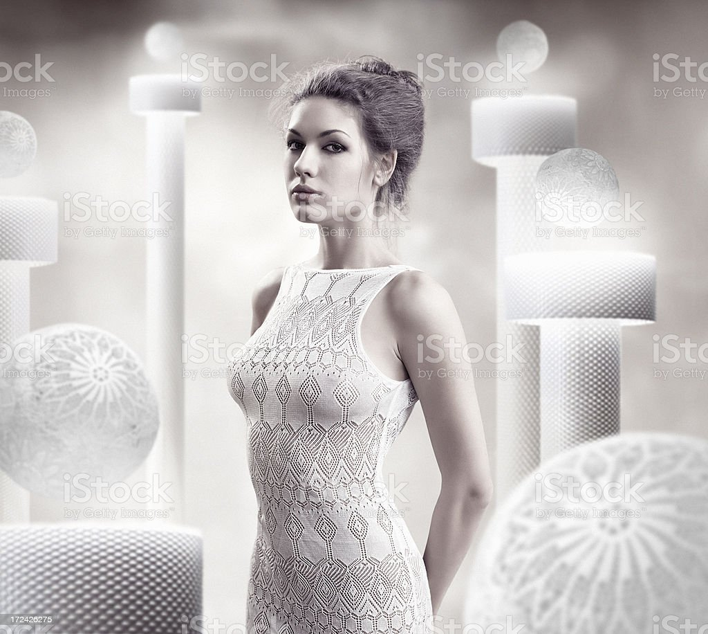 Lady and Lace stock photo