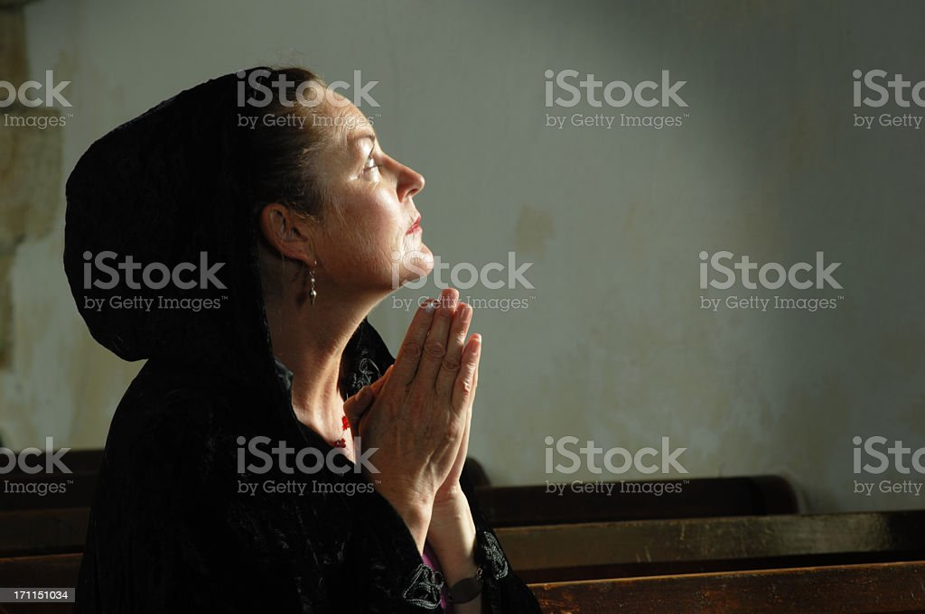 Lady at Prayer royalty-free stock photo