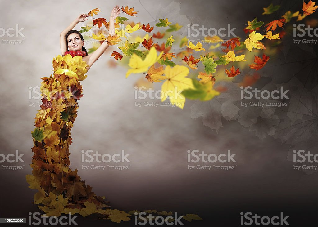 Lady autumn royalty-free stock photo