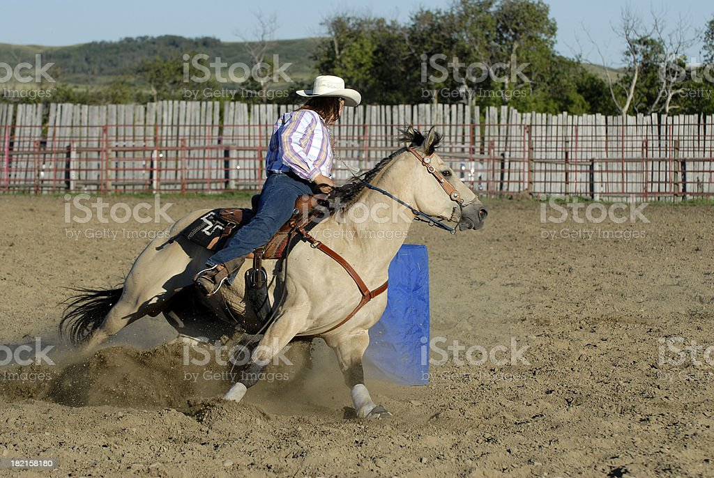 Lady Barrel Racer royalty-free stock photo
