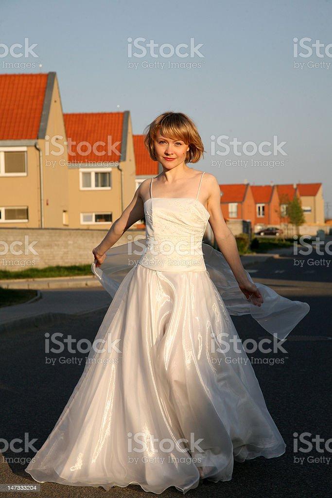 Lady before wedding royalty-free stock photo