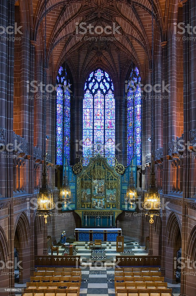 Lady Chapel inside Liverpool Cathedral royalty-free stock photo