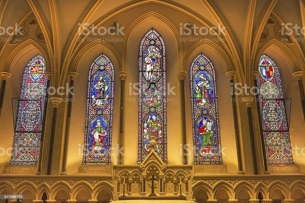 Lady Chapel of Saint Patrick's Cathedral stock photo