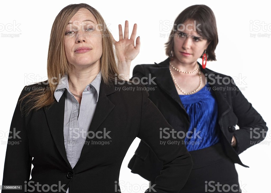 Lady Dismisses Her Boss stock photo