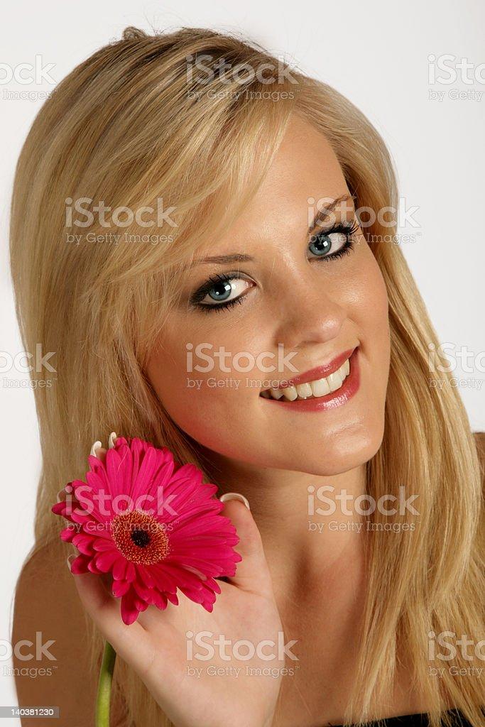 Lady Flower royalty-free stock photo