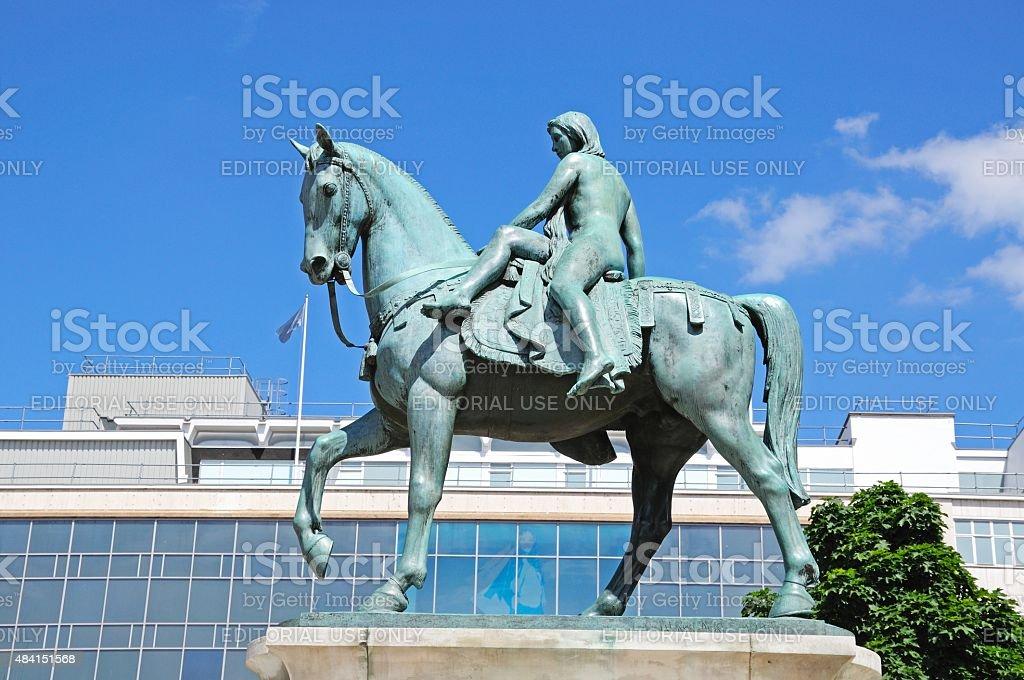 Lady Godiva statue, Coventry. stock photo