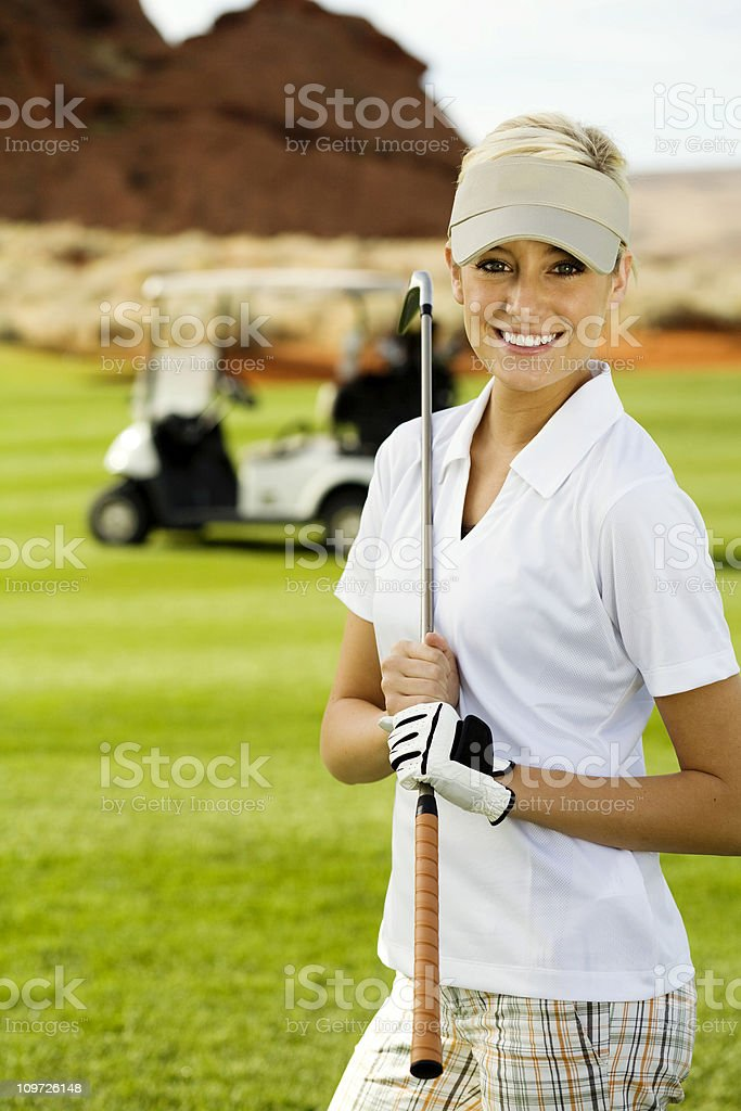 Lady Golfer royalty-free stock photo