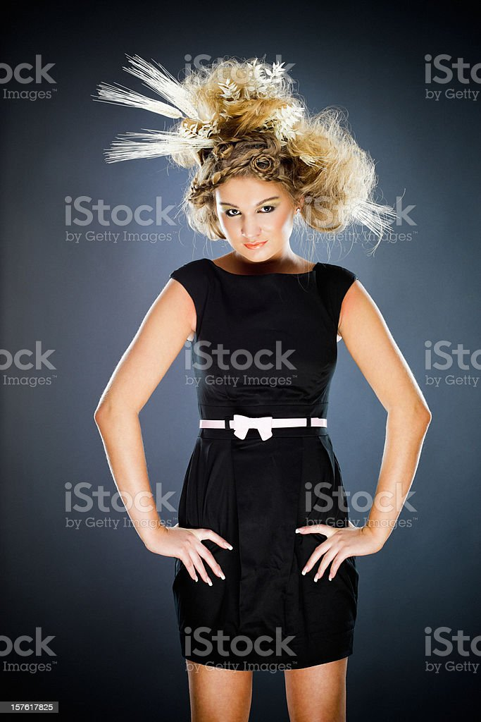 Lady Harvest royalty-free stock photo