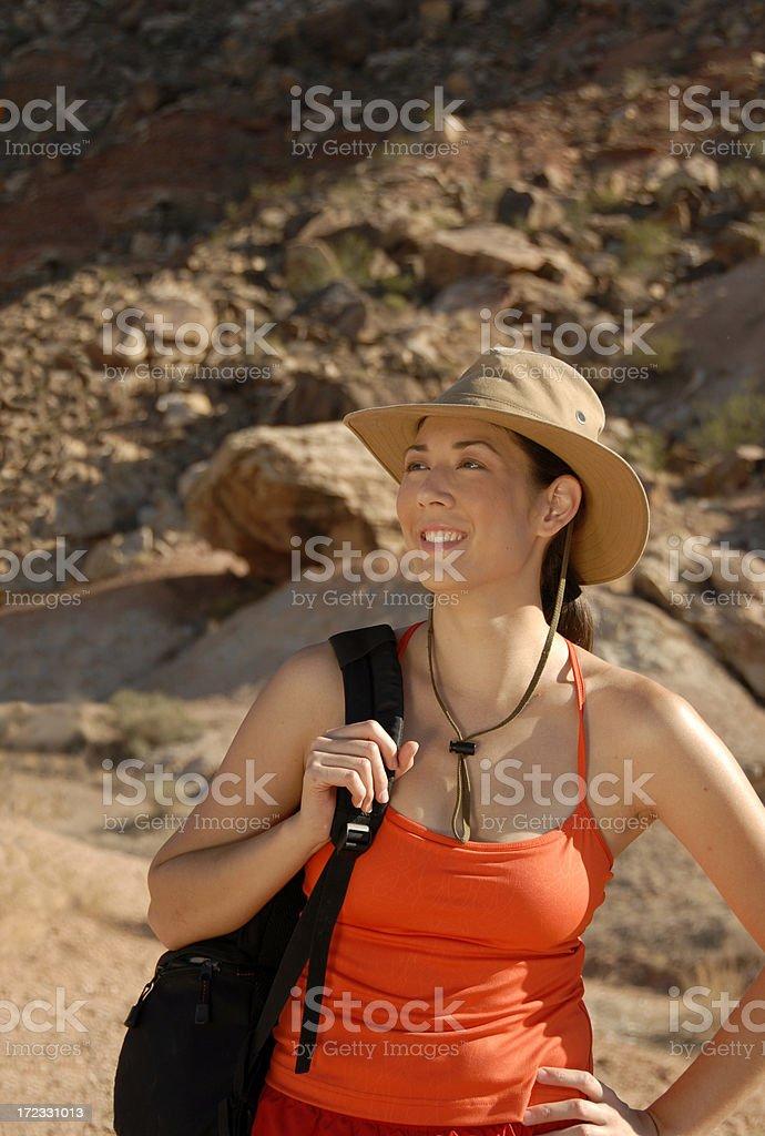 Lady Hiker stock photo