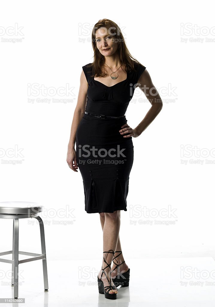 Lady in Black royalty-free stock photo
