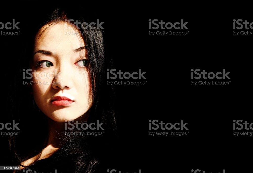 Lady in Black stock photo