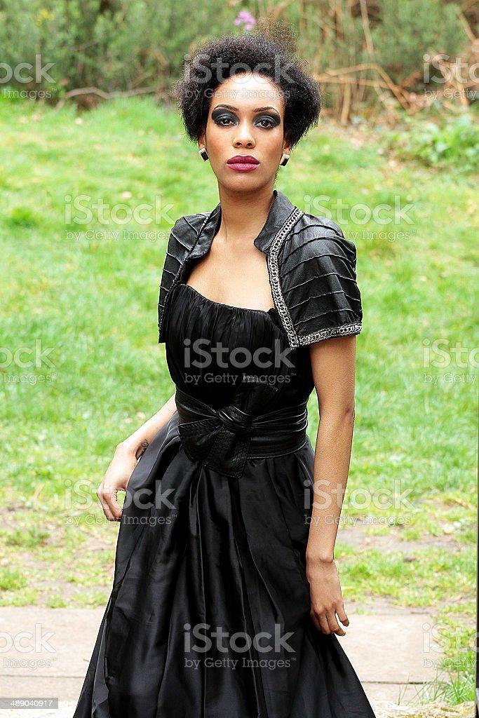 Lady in nero foto stock royalty-free