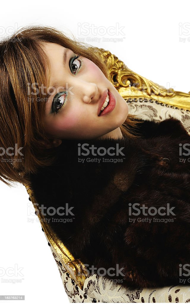 Lady in chair royalty-free stock photo