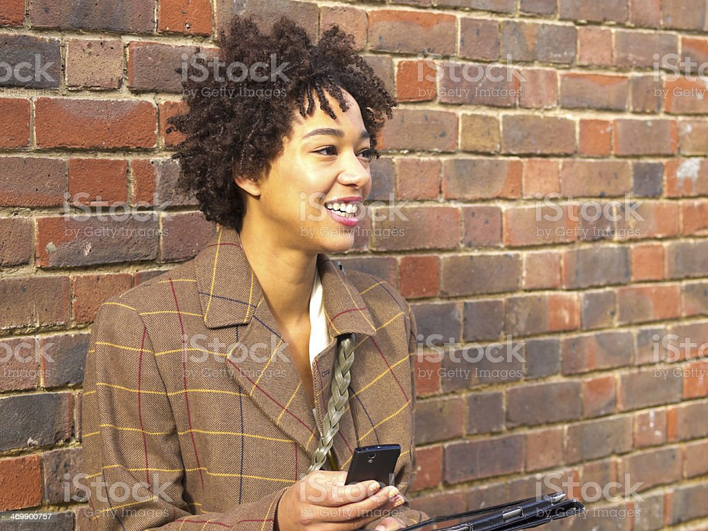Lady in Communication royalty-free stock photo