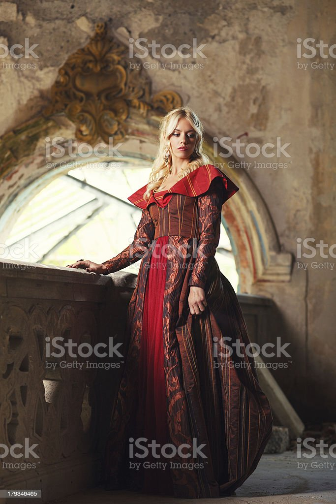 Lady in dress royalty-free stock photo