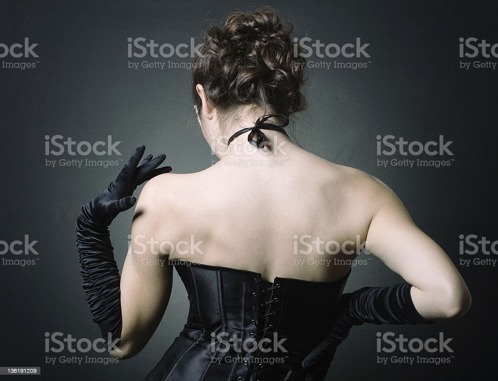 lady in elegant evening dress royalty-free stock photo