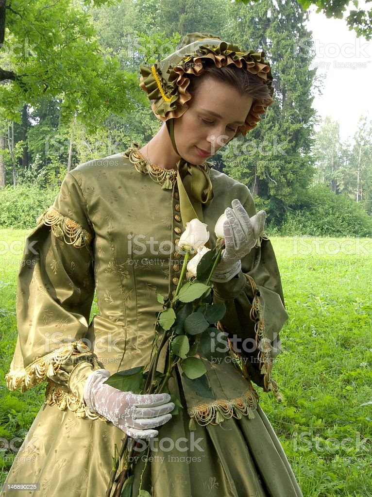 Lady in Green royalty-free stock photo
