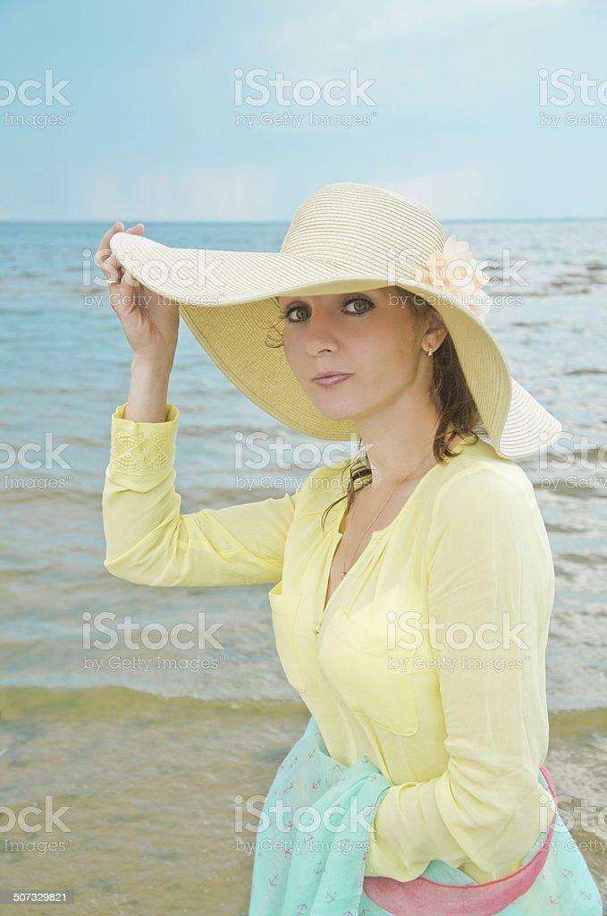 lady em chapéu foto de stock royalty-free