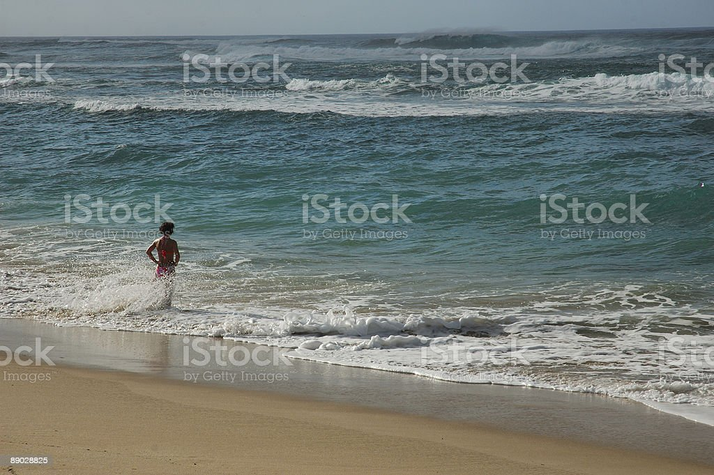 Lady in Ocean royalty-free stock photo