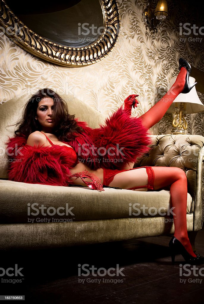 Lady in Red royalty-free stock photo
