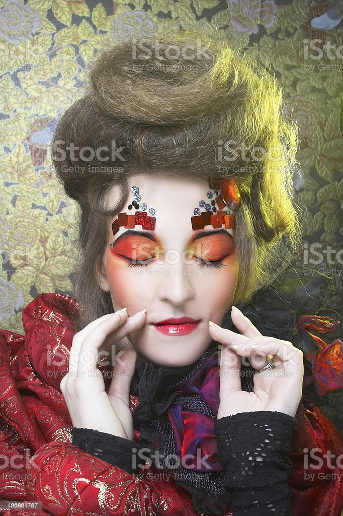 Lady in red. royalty-free stock photo