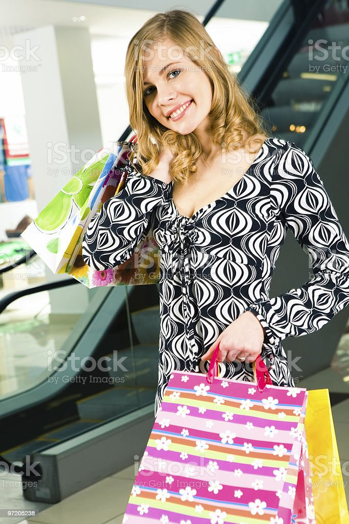 Lady in the shop royalty-free stock photo