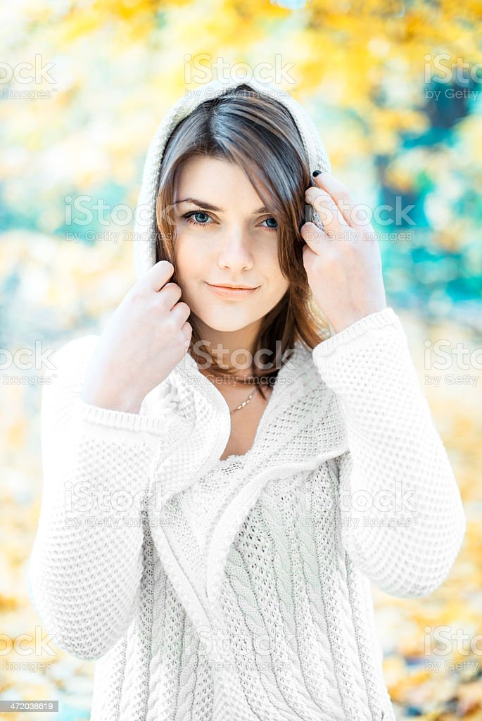 Lady in white royalty-free stock photo