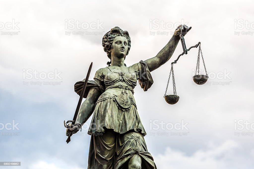 Lady Justice, Frankfurt stock photo