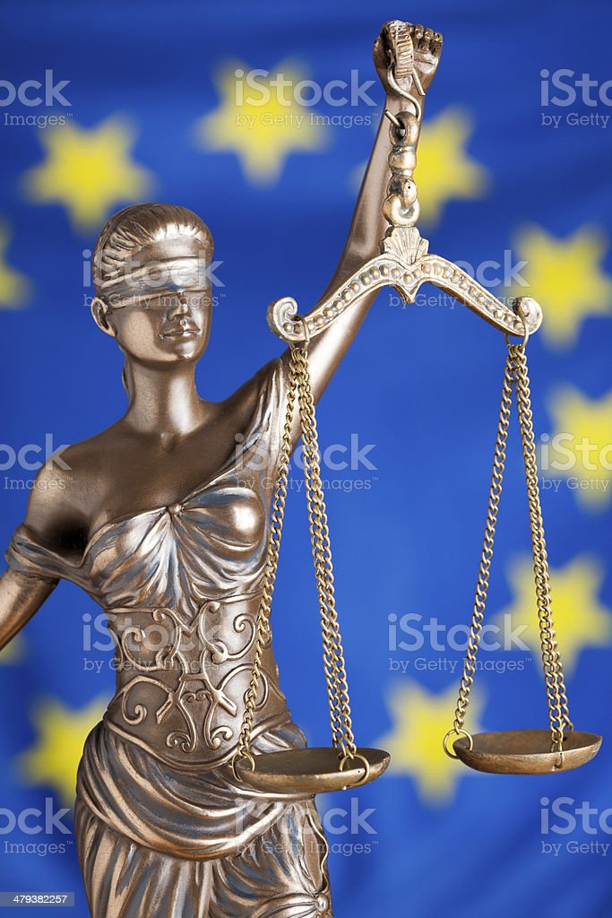 EU Lady Justice royalty-free stock photo