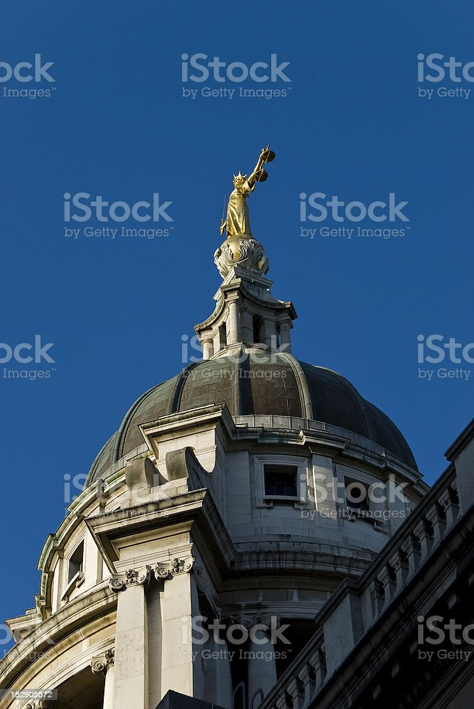 Lady Justice, the Old Bailey London royalty-free stock photo