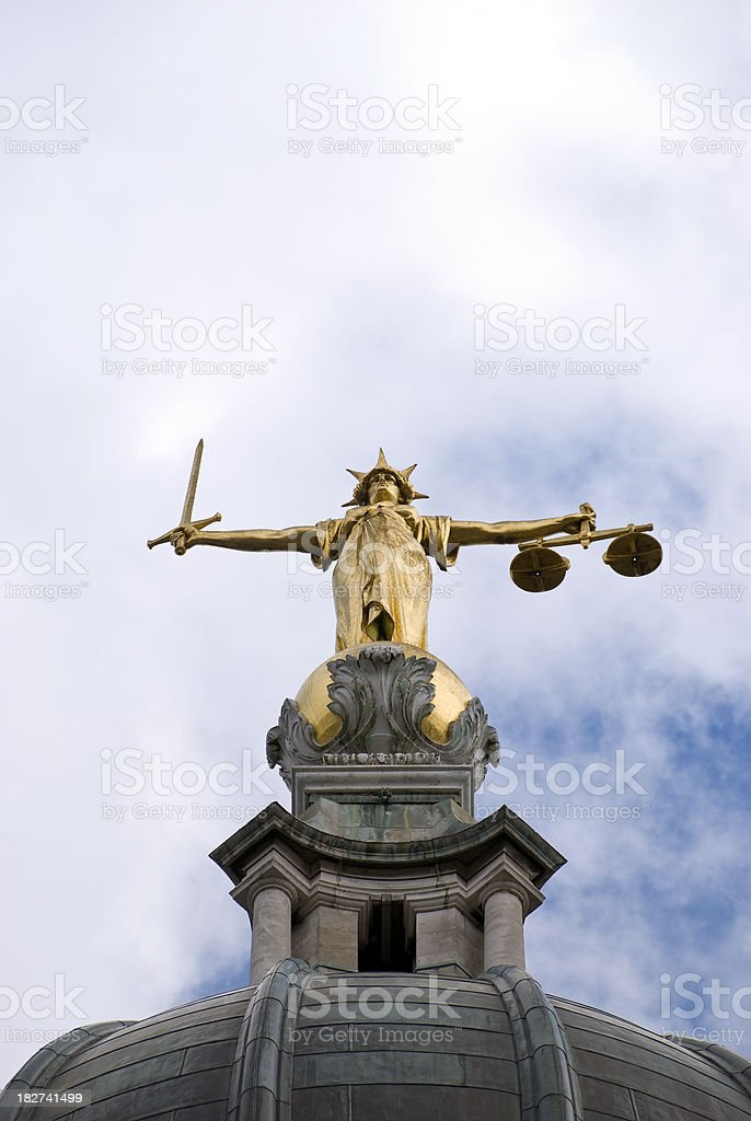 Lady Justice, the Old Bailey stock photo