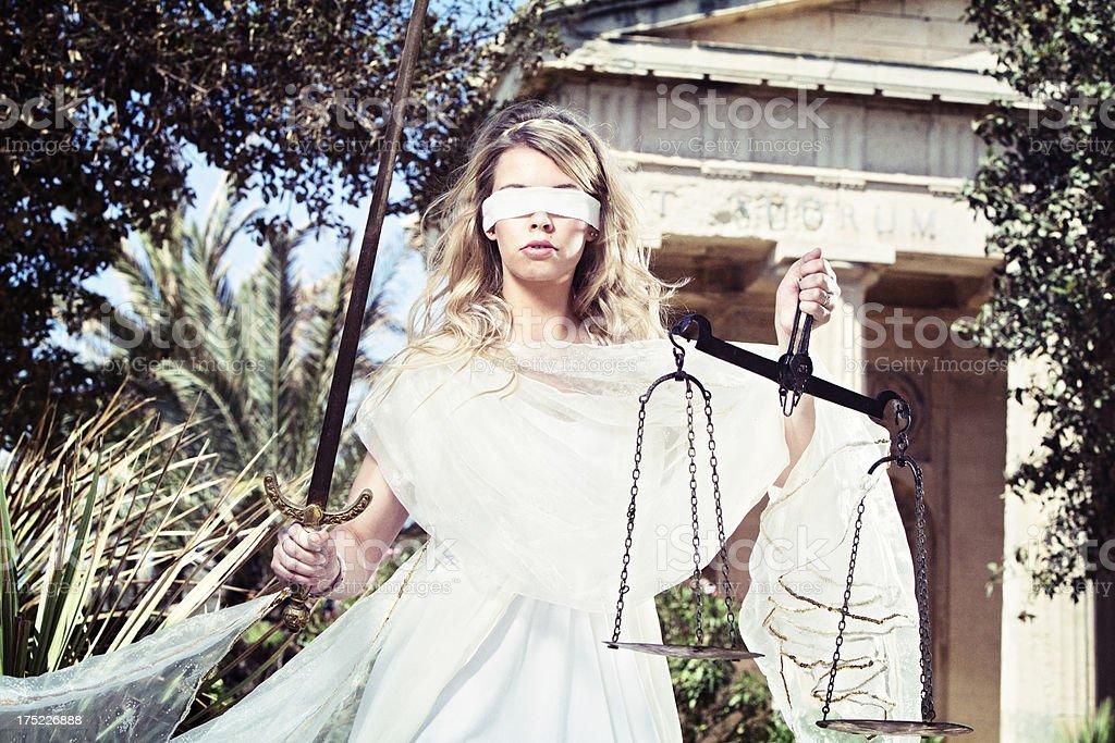 Lady Justice - Themis stock photo