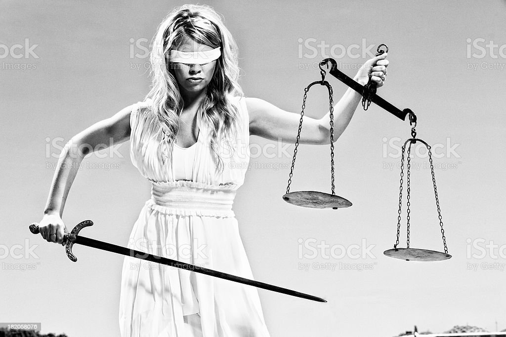 Lady Justice - Themis stock photo