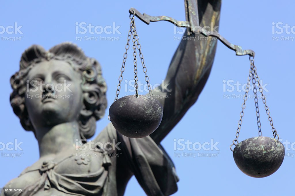 Lady Justice with scale royalty-free stock photo