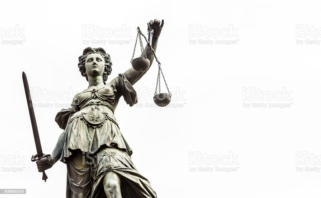 Lady Justice with textspace stock photo
