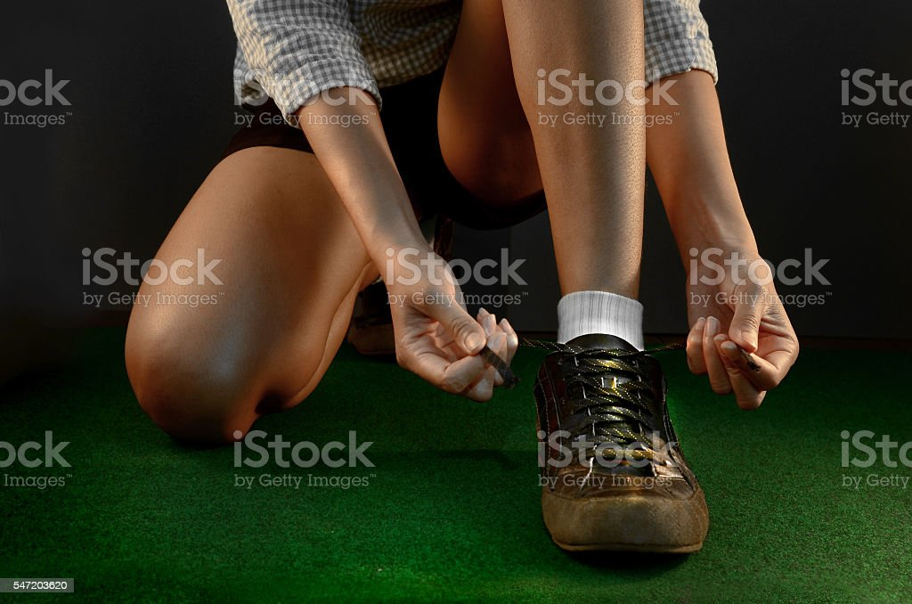 lady  Lace shoes stock photo