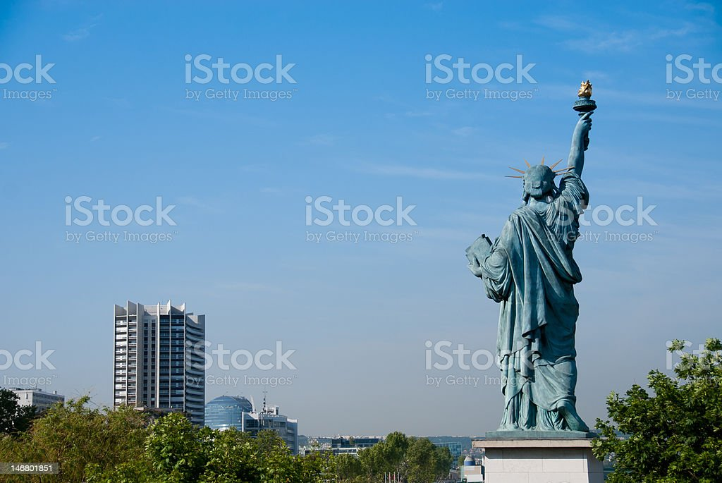 Lady Liberty in Paris royalty-free stock photo