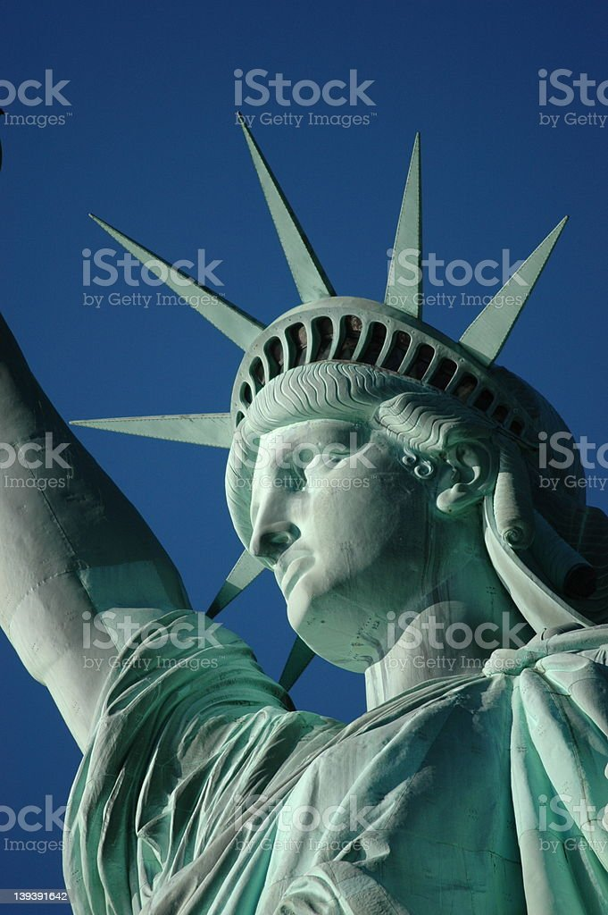 Lady Liberty-up close and personal royalty-free stock photo