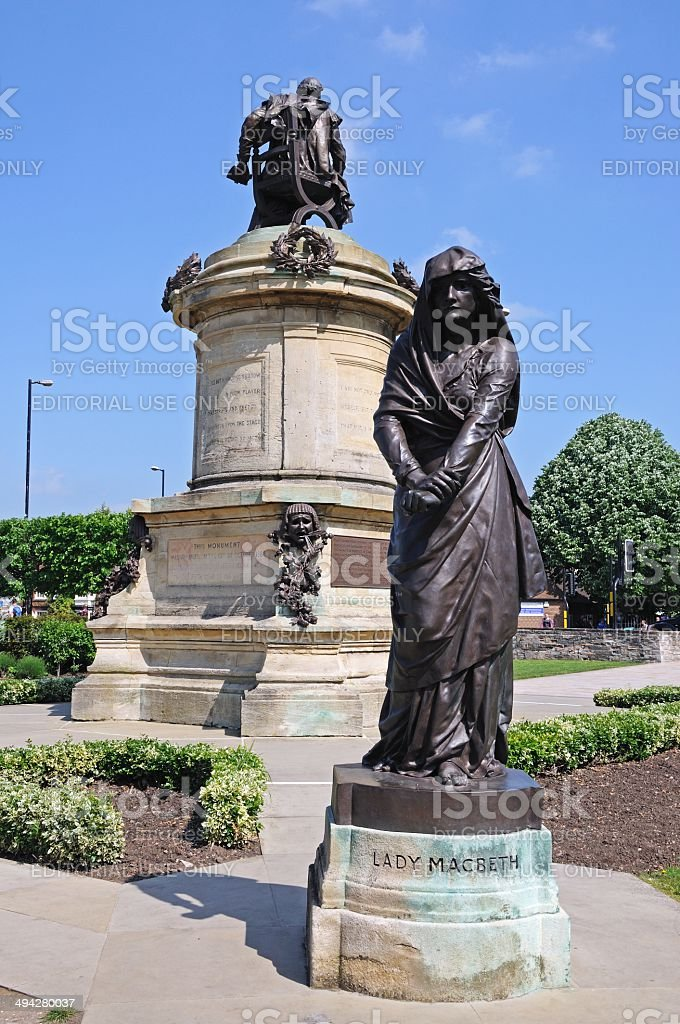 Lady Macbeth statue, Stratford-upon-Avon. stock photo