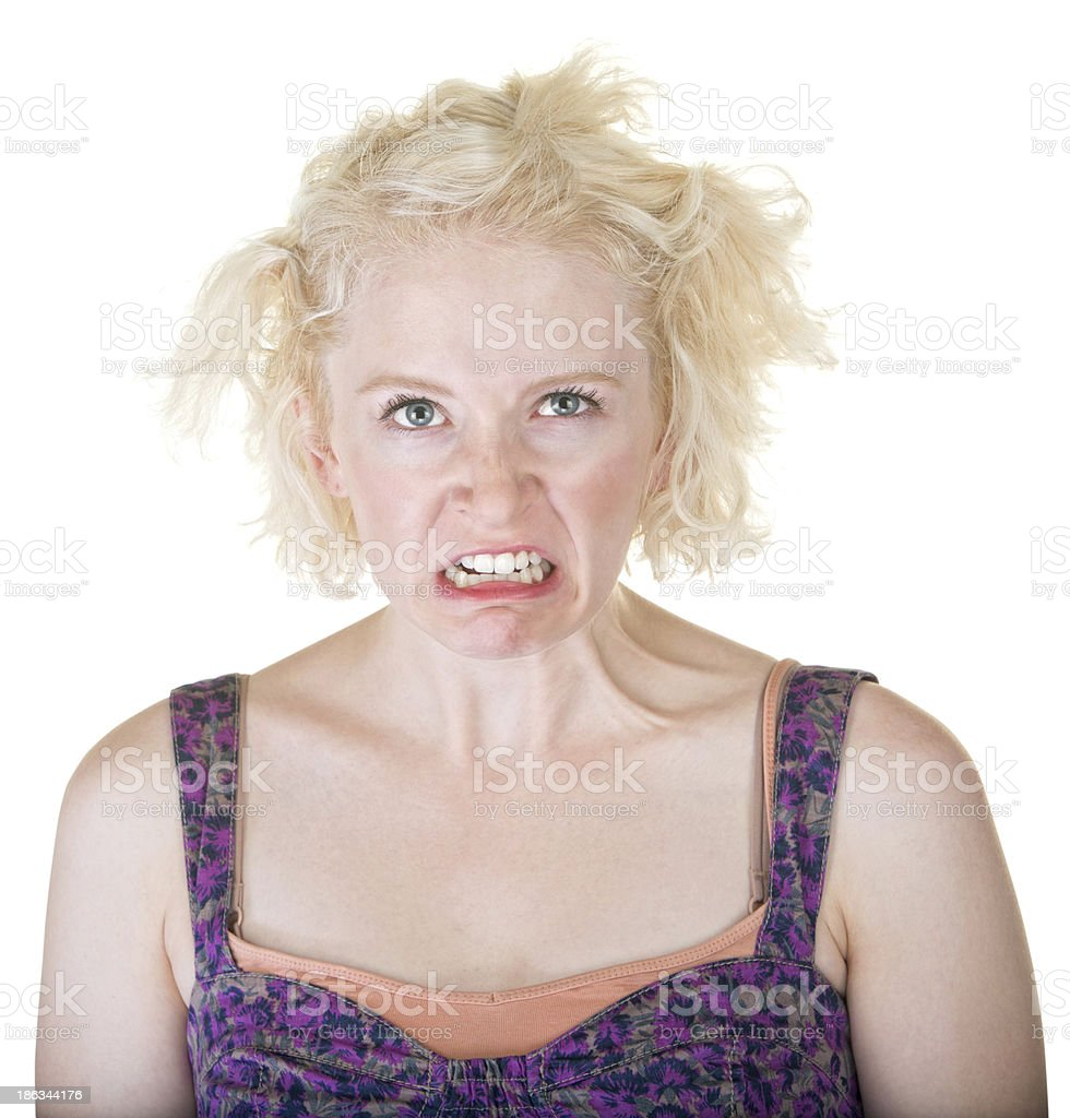 Lady Making a Face royalty-free stock photo