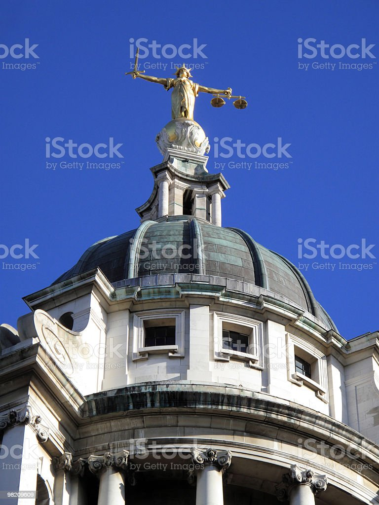 Lady of Justice, Old Bailey royalty-free stock photo