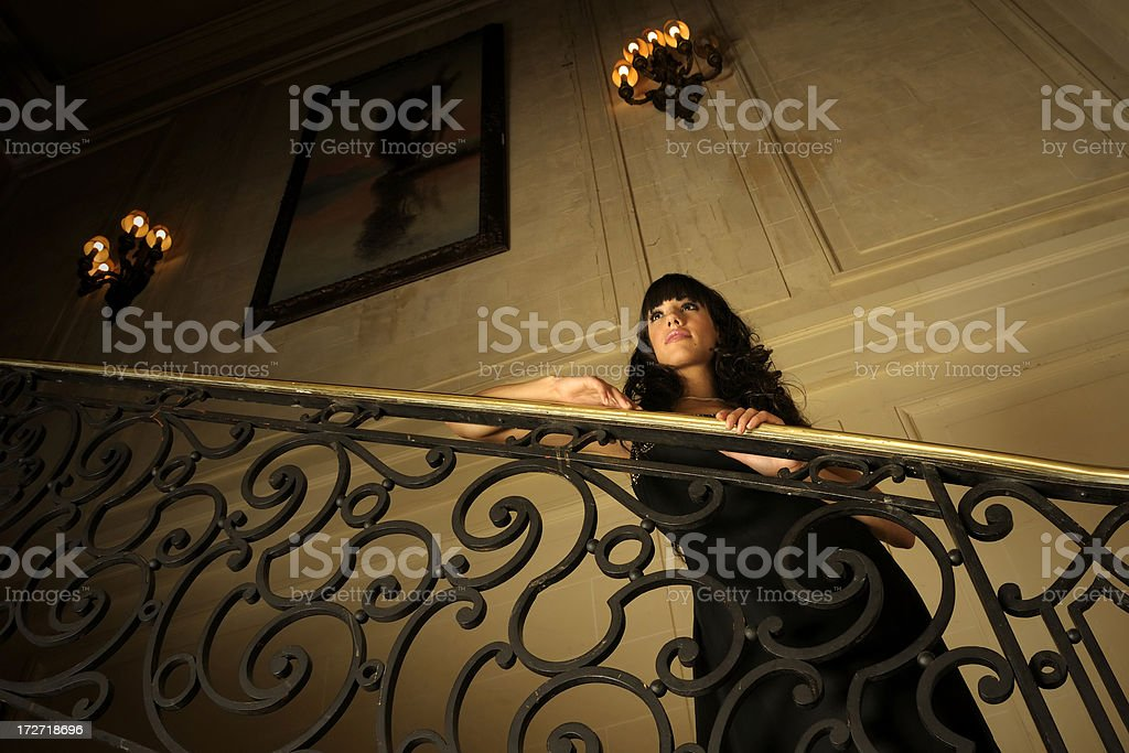 Lady of Mansion royalty-free stock photo