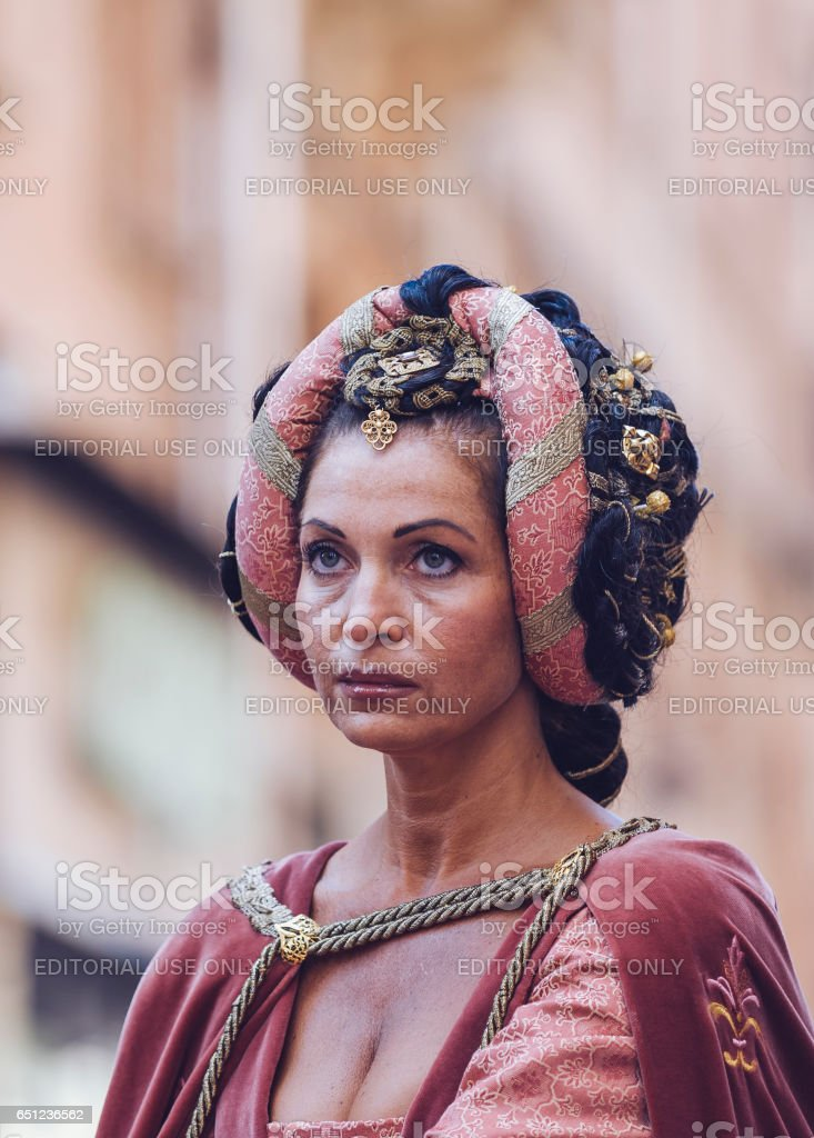 Lady of Middle Ages stock photo