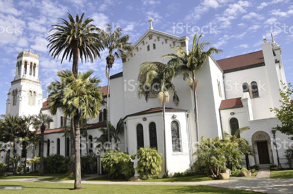 Lady of Sorrows church, Santa Barbara (California) stock photo