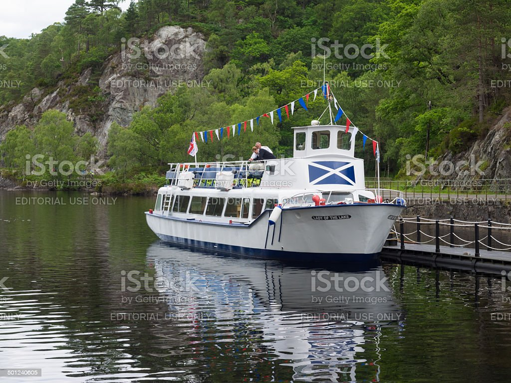 Lady Of The Lake at Loch Katrine. stock photo