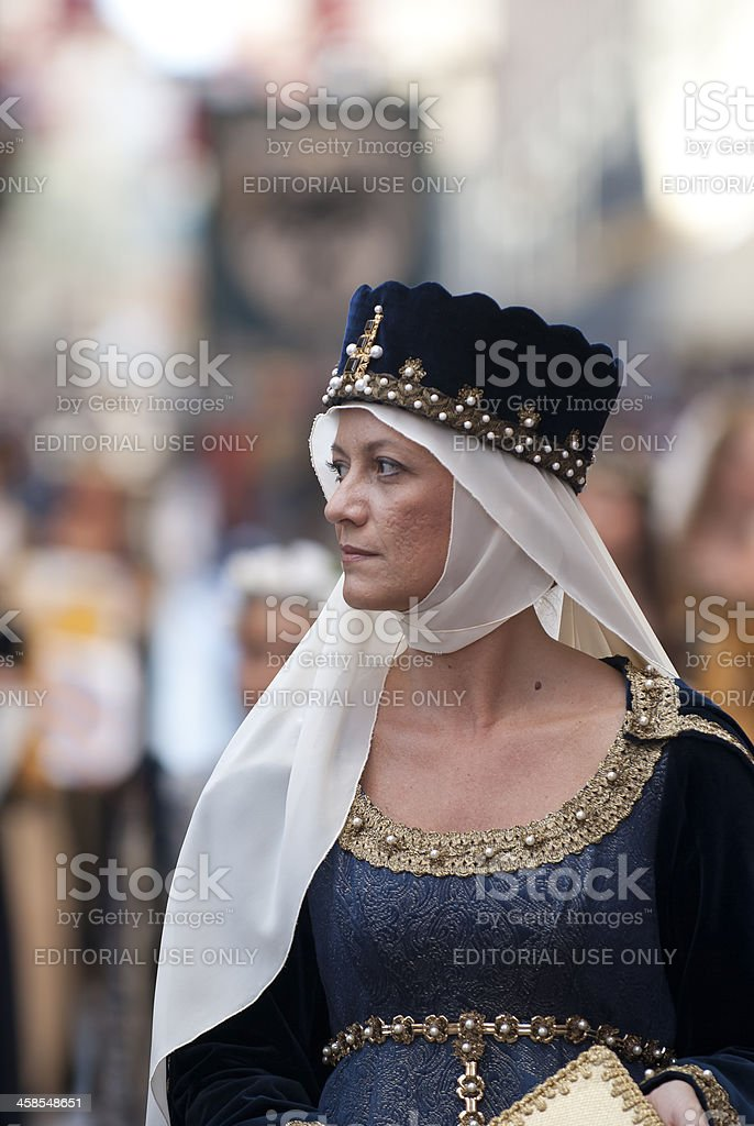Lady of the Middle Ages stock photo